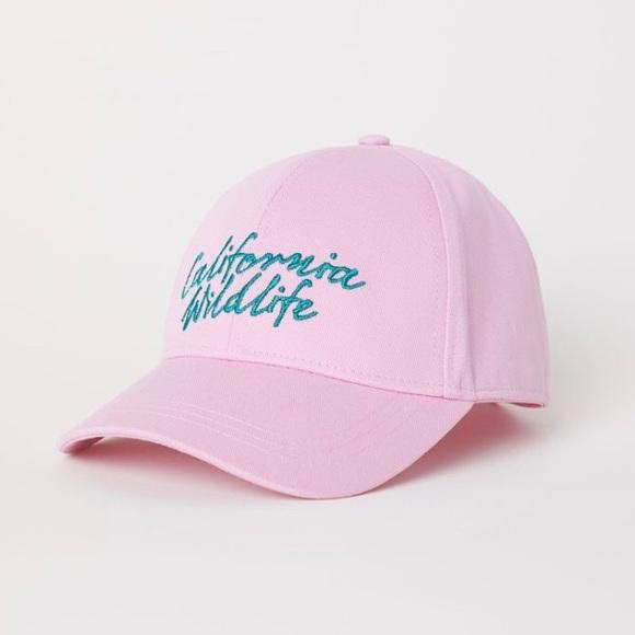 "dc4ae89dcfb27 Baby Pink ""California Wildlife"" Retro Hat"
